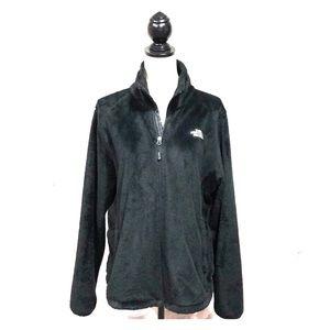 The North Face Black Faux Fur Full Zip Jacket XL